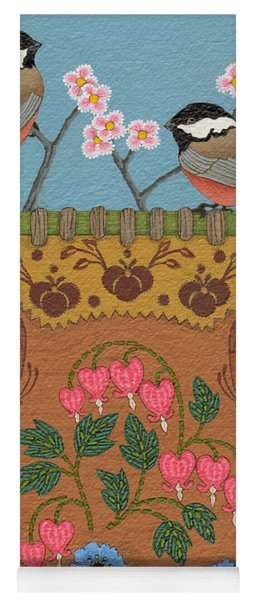 Yoga Mat featuring the painting Little Bird by Chholing Taha