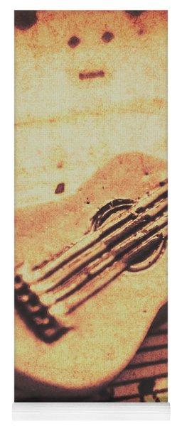 Little Carved Guitar On Sheet Music Yoga Mat