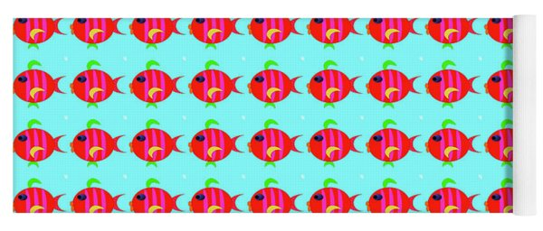 Little Fish Pattern Yoga Mat