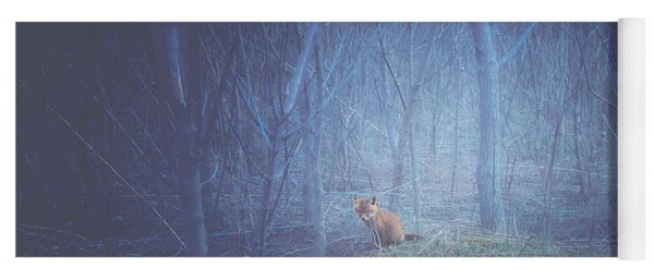 Little Fox In The Woods Yoga Mat