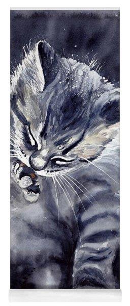 Little Grey Cat Yoga Mat