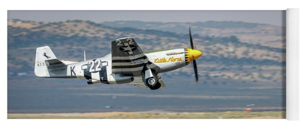 Yoga Mat featuring the photograph Little Horse Gear Coming Up Friday At Reno Air Races 16x9 Aspect by John King