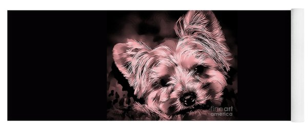 Yoga Mat featuring the photograph Little Powder Puff by Kathy Tarochione
