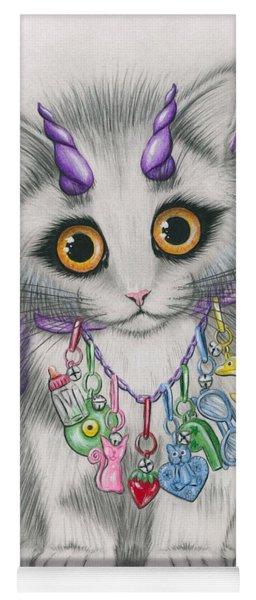 Little Purple Horns - 1980s Cute Devil Kitten Yoga Mat