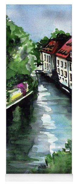 Little Venice In Prague Certovka Canal Yoga Mat