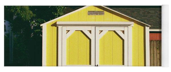Little Yellow Barn- By Linda Woods Yoga Mat