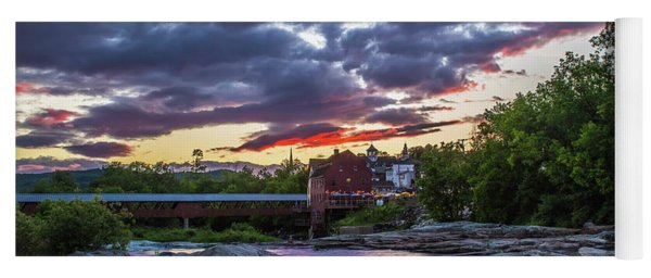 Littleton Sunset On The Rocks Yoga Mat