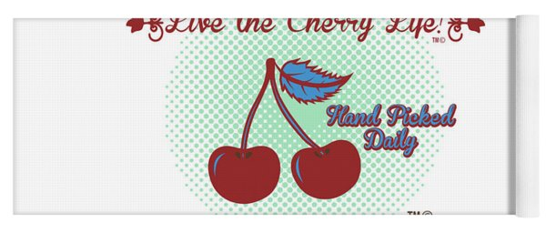 Live The Cherry Life Yoga Mat