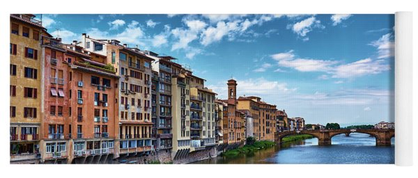 Living Next To The Arno River Yoga Mat