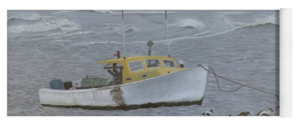 Lobster Boat In Kettle Cove Yoga Mat