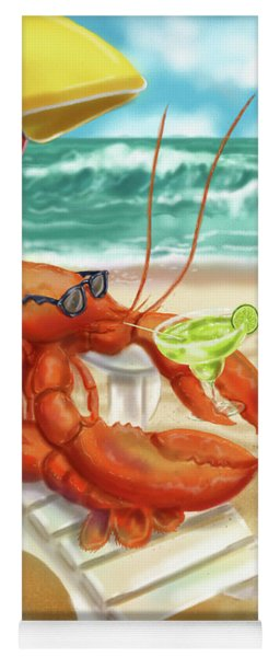 Lobster Drinking A Margarita Yoga Mat