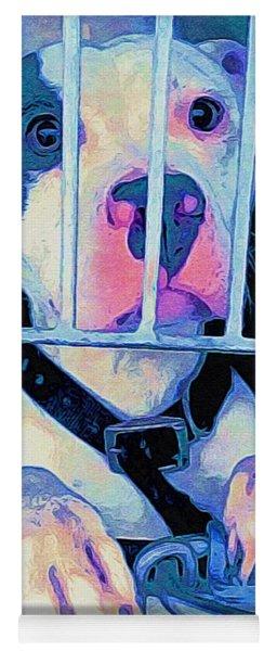 Yoga Mat featuring the digital art Locked Up by Kathy Tarochione