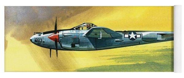 Lockheed P-38j Lightning Yoga Mat