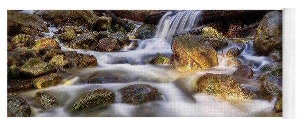Log Falls On Limekiln Creek Yoga Mat