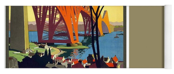 London And North Eastern Railway - Retro Travel Poster - Vintage Poster Yoga Mat