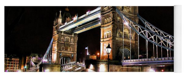 London Bridge At Night Yoga Mat