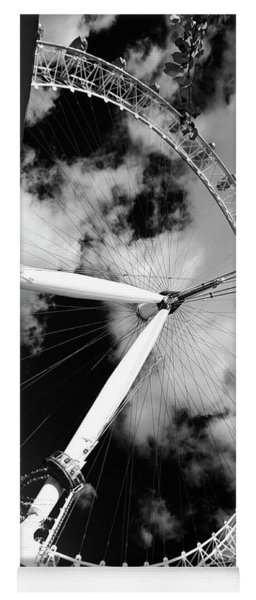 London Ferris Wheel Bw Yoga Mat