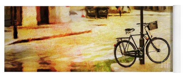 Yoga Mat featuring the photograph London Street Bicycle by Craig J Satterlee
