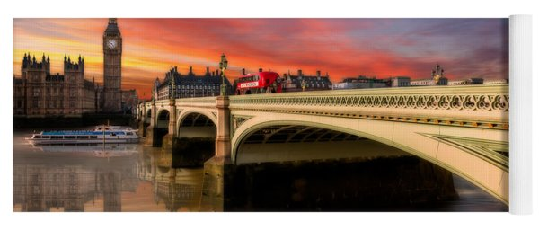 Yoga Mat featuring the photograph London Sunset by Adrian Evans