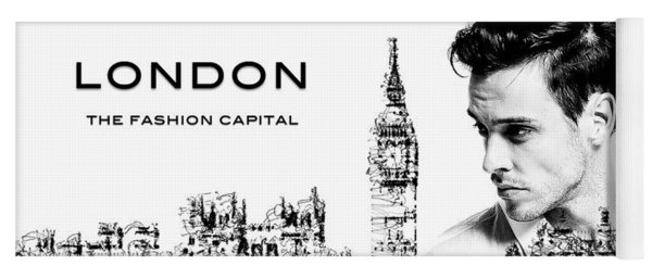 Yoga Mat featuring the digital art London The Fashion Capital by ISAW Company