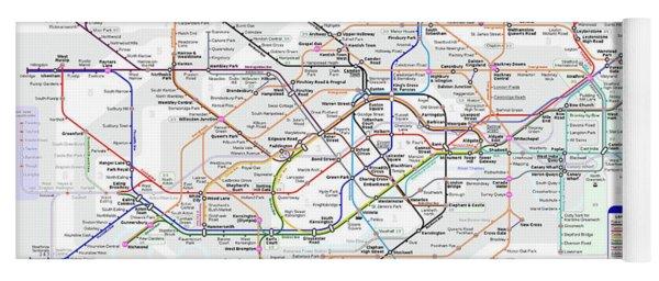 London Underground Map Yoga Mat