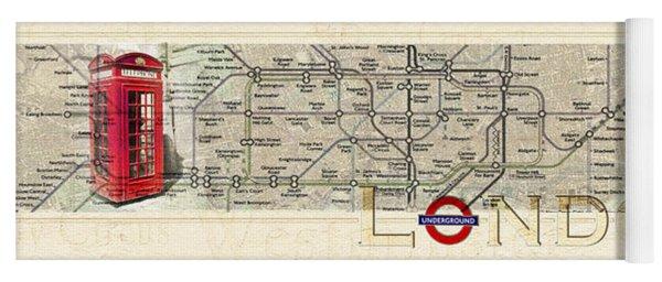 London Underground Yoga Mat