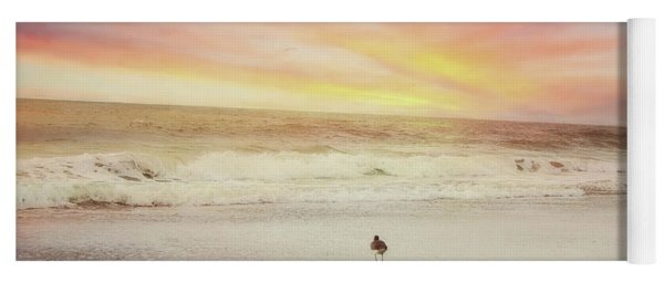 Lone Bird At Sunset Yoga Mat