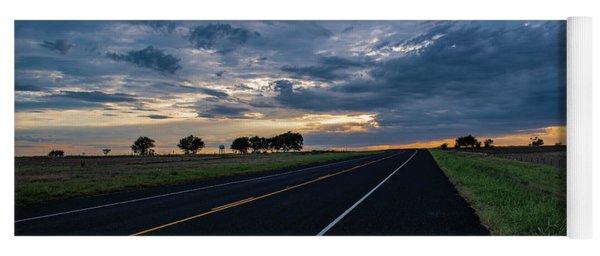 Lone Highway At Sunset Yoga Mat