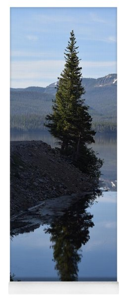Lone Pine Reflection Chambers Lake Hwy 14 Co Yoga Mat