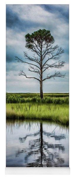 Lone Tree Reflected Yoga Mat