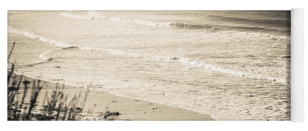 Yoga Mat featuring the photograph Lonely Pb Surf by T Brian Jones