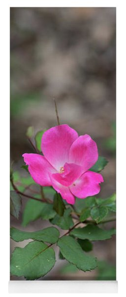 Lonely Pink Flower Yoga Mat