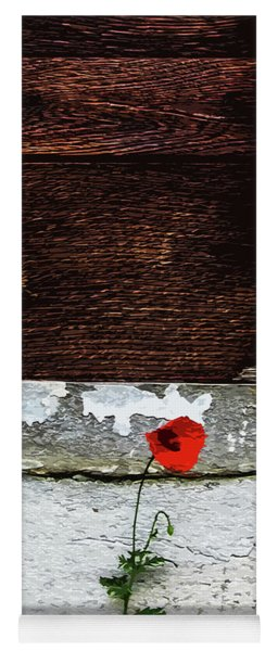 Lonely Red Flower Yoga Mat