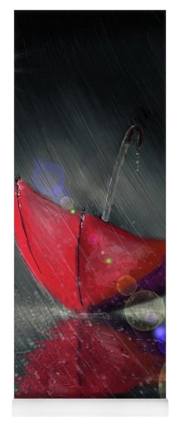 Yoga Mat featuring the digital art Lonely Umbrella by Darren Cannell
