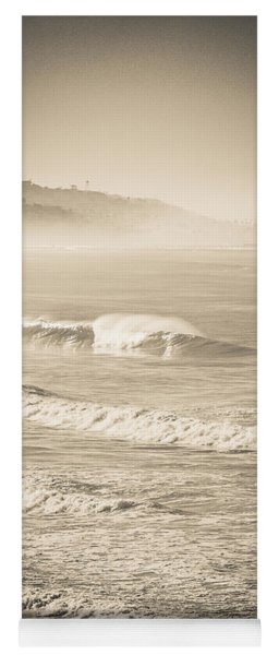 Yoga Mat featuring the photograph Lonely Winter Waves by T Brian Jones