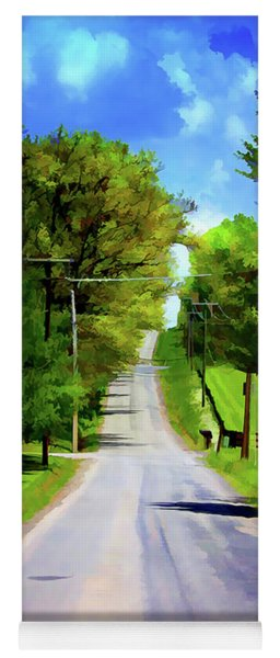 Long Road Ahead Yoga Mat