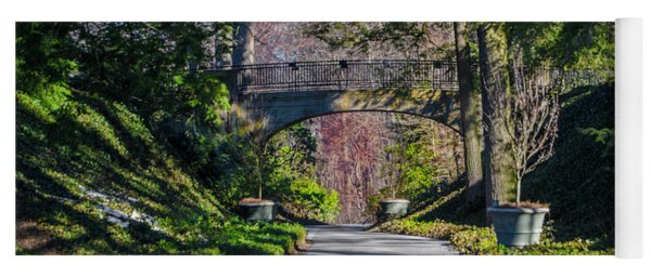 Longwood Gardens - Bridge Over Path Yoga Mat