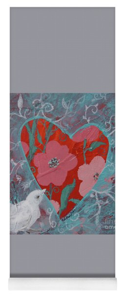 Yoga Mat featuring the painting Look Into My Heart  by Robin Maria Pedrero