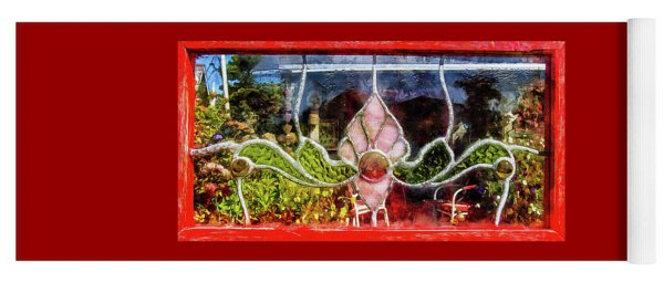Yoga Mat featuring the photograph Looking Into The Garden by Thom Zehrfeld