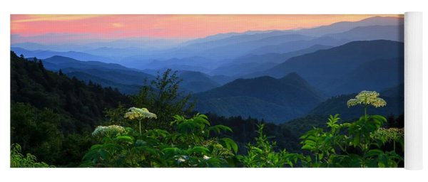 Looking Out Over Woolyback On The Blue Ridge Parkway  Yoga Mat