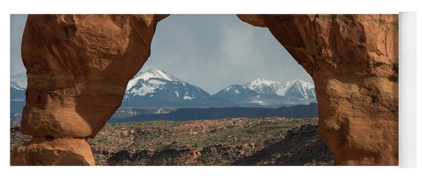 Looking Through Delicate Arch Yoga Mat