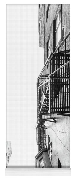 Looking Up Fire Escape Nyc 2 Yoga Mat