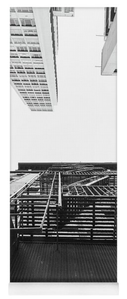 Looking Up Fire Escape Nyc 3 Yoga Mat
