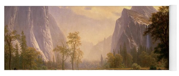 Looking Up The Yosemite Valley  Yoga Mat