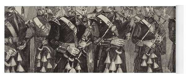 Lord Archibald Campbell And His Pipers Marching Through The Pass Of Glencoe Yoga Mat