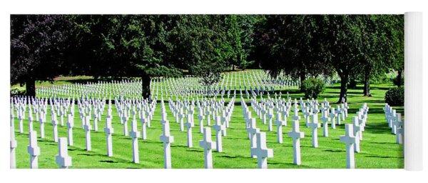 Lorraine American Cemetery - St Avold, France Yoga Mat