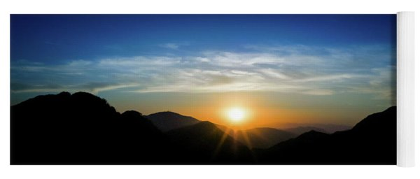 Yoga Mat featuring the photograph Los Angeles Desert Mountain Sunset by T Brian Jones