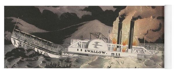 Loss Of The Steamboat Swallow, While On Her Trip From Albany To New York, 1845 Yoga Mat