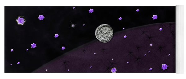 Yoga Mat featuring the photograph Lost In Midnight Charcoal Stars by Rockin Docks Deluxephotos