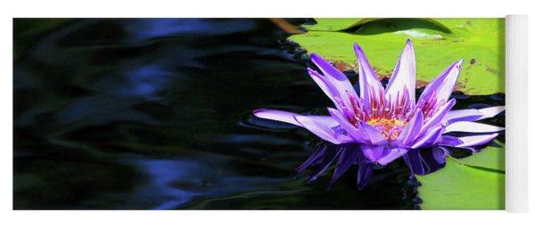 Lotus And Dark Water Refection Yoga Mat